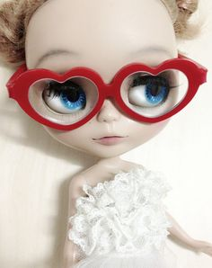 Heart Glasses Red Love  best selling by 24PM on Etsy, ฿447.28