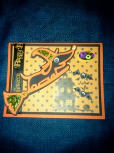 Halloween card using Cricut Paper Pups