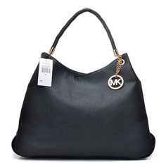 #MKResort #MKTimeless $67.99 Michael Kors Skorpios Textured Large Black Totes hot sale,fast shipping!!