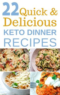 22 Quick Keto Dinner Recipes For Weight Loss. Best Keto Easy Meals For Dinner. These keto dinner recipes with cream cheese, chicken, beef and more are ready in less than 30 minutes and make the perfect quick Keto Crockpot Recipes, Ketogenic Recipes, Diet Recipes, Healthy Recipes, Easy Recipes, Keto Foods, Lunch Recipes, Cooker Recipes, Delicious Recipes