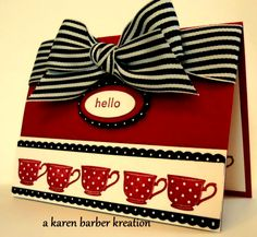 WT343 - TEA FOR YOU, TEA FOR ME by Karen B Barber - Cards and Paper Crafts at Splitcoaststampers
