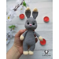 Easter Bunny Crochet Pattern, Crochet Rabbit, Crochet Animal Patterns, Stuffed Animal Patterns, Crochet Patterns Amigurumi, Amigurumi Toys, Tutorial Amigurumi, Pattern Cute, Etsy Handmade