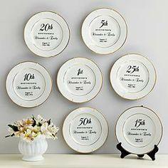 Anniversary Plates//