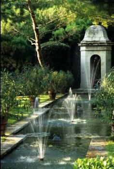 Formal Gardens with Reflecting Pool.