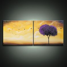 art abstract original painting canvas lollipop tree by mattsart, $129.00