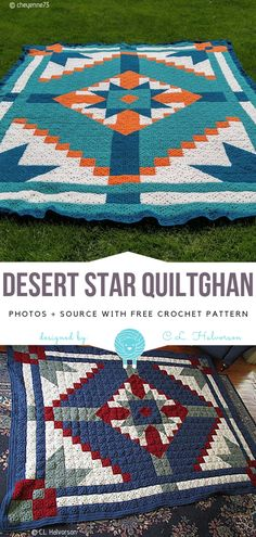 Desert Star Quiltghan Free Crochet Pattern