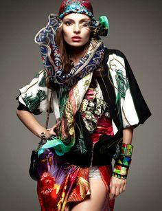 Vogue Germany January '12. Photography by: Greg Kadel, ft. Carola Remer.