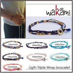 送込■ロンハーマン■wakami■light triple wrap bracelet