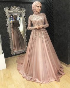 Muslim Wedding Gown, Muslim Evening Dresses, Hijab Evening Dress, Dress Wedding, Wedding Outfits, Hijab Prom Dress, Muslimah Wedding Dress, Modest Dresses, Bridal Dresses