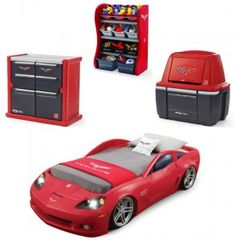 Corvette Bedroom Combo - YOU can win the entire set... it's PERFECT for a little boy! Enter to win it @ its-annoying.com