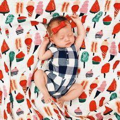 Wishing you a holiday full of sweet treats! ...& long naps of course! @chelseakoerten shop Sweet Treats Muslin at spearmintLOVE.com