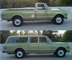 1971 Chevy Suburban & 1972 Sierra