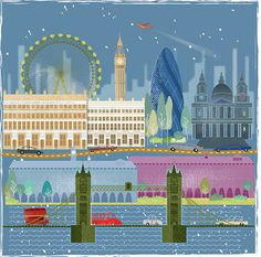 Dorus Verwiel London- research a city and make poster for it highlighting tourist spots/things unique to that city