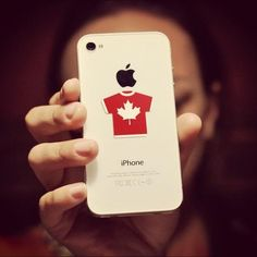 Red Canadian Jersey - Tech Tats Sticky Screen Cleaners