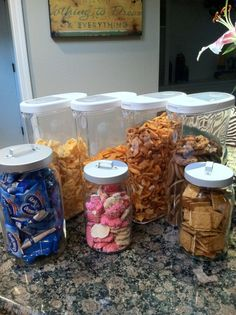Food Storage Organization - The affordable way! Food Storage Organization, Food Storage Containers, Emergency Preparedness, Home Projects, Make It Simple, Pantry, Organize, Creative, Easy