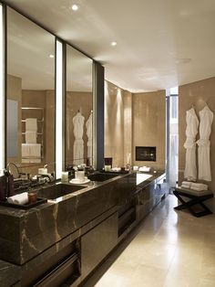 Master Bath - Luxurious, spacious, sleek with dark woods
