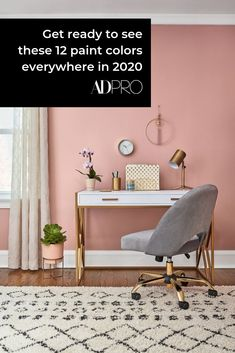 """Valspar released their palette of the year, and it includes everything from """"Bombay Pink"""" and """"Mint Whisper"""" to create a neutral set of hues to inspire you in 2020. #COTY #coloroftheyear #color #paint #paintchip #swatch #walls #DIY #projects #shade #inspo #inspiration"""