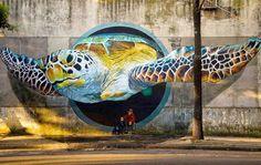 Impresionante arte callejero en el mundo