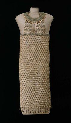 Beadnet Dress c.2551-2528 BCE Egyptian Old Kingdom, Dynasty IV. An AMAZING find!