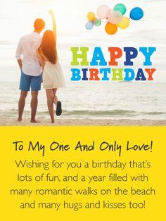 BEACH HEART PERSONALISED BIRTHDAY CARD ANNIVERSARY WIFE HUSBAND PARTNER FIANCE