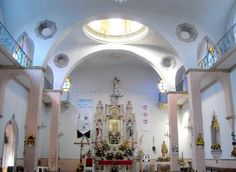 Inside the Church in Los Rodrigues, Mexico