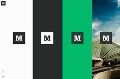 Medium Brand Development on Behance Logo Branding, Branding Design, Logos, Brochure Design, Design Design, Website Color Schemes, Folders, Brand Manual, Brand Book