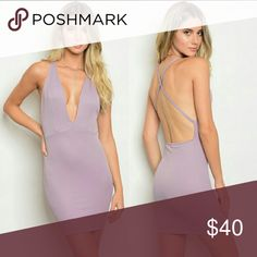 Lavender Deep V Dress Super sexy lavender mini dress. Short, seductive length. Deep V neck line and curve hugging fit. Criss cross X back. This beautiful pastel color is perfect for a spring date night. You couldn't ask for a hotter dress. WILA Dresses Mini