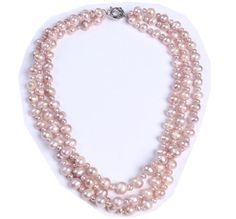 pink three layers Freshwater pearls,wedding Necklace, Drop Shape Necklace, Chunky Necklace wiipujewelry http://smile.amazon.com/dp/B00AINT668/ref=cm_sw_r_pi_dp_Hhn.ub1XC0Z7D