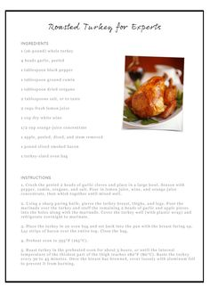Roasted Turkey Recipe for Experts