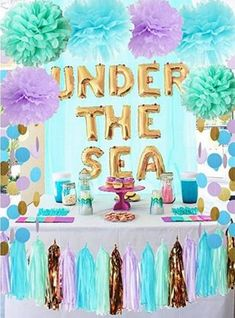 BEST Mermaid Party Decorations EASY DIY Decor Ideas Under The Sea Theme Backdrops Centerpieces Table Dollar Store Craft Projects