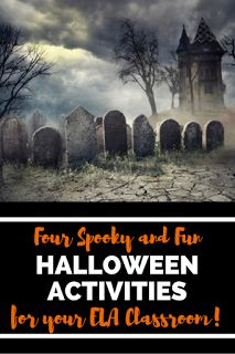 Spooky and fun Halloween Activities for your English Language Arts classroom! Includes descriptive writing, scary sentence starters, reading, writing, analyzing poetry and so much more!