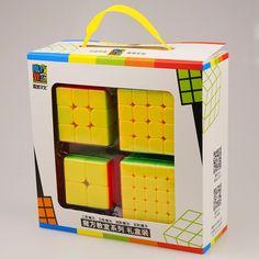 check price 4pcsset cyclone 5x5x5 magic cube puzzle cubes speed cubo square puzzle no sticker rainbow #magic #squares