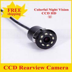 2017 Yeni Su Geçirmez CCD Evrensel dikiz kamera 8LED Gece Görüş Geri Araba Kamera HD Araba dikiz Park Kamera
