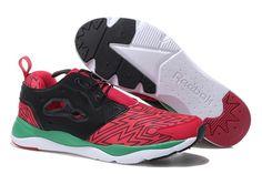 Reebok FuryLite Men's Retro Running Shoe - Red/Black