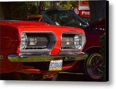 Red Plymouth Canvas Print / Canvas Art By Dean Ferreira