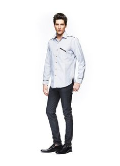 #FashionStar Episode 2: Nzimiro Oputa's Contrast-Trim Western Shirt for Macy's