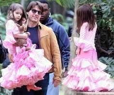 Suri Cruise Spain Pink Flamenco dress