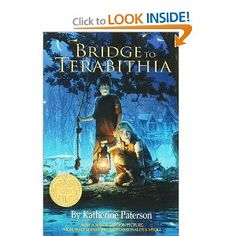 by Katherine Patterson. It's a heartwarming but sad story about carving out your refuge both physically and emotionally away from bullies and the harsh realities of being a kid. It's about friendship and standing up for what is right as much as it's about loss. Katherine Paterson, Bridge To Terabithia, What Are Rights, Sad Stories, Bullies, Read Aloud, Stand Up, Friendship, That Look