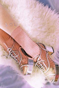 Chanel iridescent patent calfskin shoes