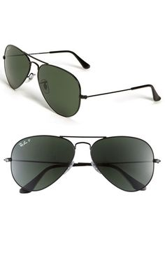 Ray-Ban 'Original Aviator' 58mm Polarized Sunglasses | Nordstrom | Gift for a fashionista of any age. Classic sunglasses that are yet again very trendy.