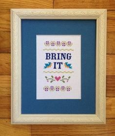 This is funny counted cross stitch pattern that youll have fun making and love the finished results. When using 14ct fabric the finished pattern (worked