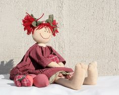 Strawberry Girl, country style raggedy doll. €29,00, via Etsy.