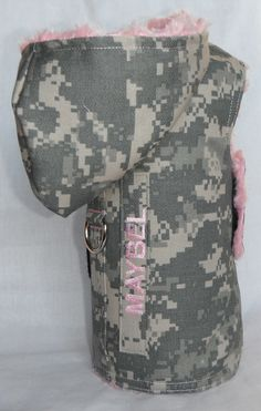 U.S. Army ACU Pink Fur Dog Harness With by chiwawagearharnesses, $43.00