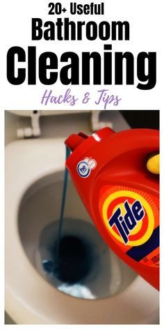 Bathroom cleaning hacks, tips and tricks you will want to try. tips and tricks Useful Bathroom Cleaning Tips & Tricks Cleaning Faucets, Bathroom Cleaning Hacks, Household Cleaning Tips, House Cleaning Tips, Diy Cleaning Products, Deep Cleaning, Cleaning Toilets, Household Cleaners, Weekly Cleaning