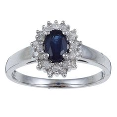 10k White Gold Genuine Blue Sapphire and Diamond Ring (1/4 TDW) - size 8 by Designer-Diamonds.net, http://www.amazon.co.uk/dp/B005IXOLZ4/ref=cm_sw_r_pi_dp_pgOLqb07M39JG