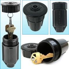 sprinkler head key safe & other places to hide a key to your house