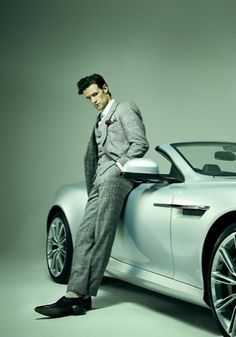 I love that Matt Smith is leaning on the new Astin Martin Vanquish. It makes me love The Doctor so much more that he has good taste in cars :)