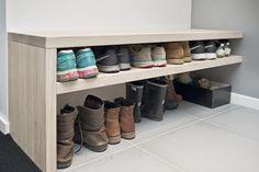 åpent hus: Garderober med orden og svung / Everything it its place Plank, Design Ikea, Ikea Stuva, Rustic Wood Floors, Apartment Goals, Ikea Hackers, Concrete Tiles, Pocket Doors, Design Furniture