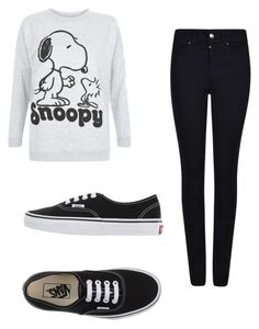 """""""Snoopy"""" by ariannaaschenbrenner ❤ liked on Polyvore featuring Giorgio Armani and Vans"""
