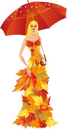 women / all kinds tubes Fall Clip Art, Glue Art, I Love Rain, Model Sketch, Autumn Fairy, Illustration Art, Illustrations, Learn Art, Halloween